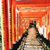 Η λάρνακα Inari Fushimi Στοκ εικόνες με δικαίωμα ελεύθερης χρήσης