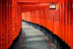 Η λάρνακα & Torii Inari Fushimi Στοκ Εικόνα
