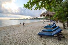 Η άσπρη παραλία Koh στο βασίλειο επαρχιών Kong της Καμπότζης Στοκ εικόνα με δικαίωμα ελεύθερης χρήσης