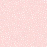 Η άσπρη Πόλκα διαστίζει το άνευ ραφής σχέδιο στο ροζ Στοκ Φωτογραφία