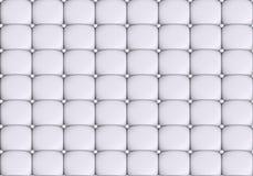 Η άσπρη σύσταση δέρματος του δέρματος γέμισε τον καναπέ Στοκ Εικόνες