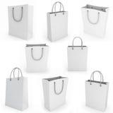 Η άσπρη τσάντα αγορών δίνει την εικόνα Στοκ εικόνα με δικαίωμα ελεύθερης χρήσης