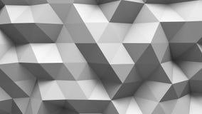 Η άσπρη polygonal επιφάνεια τρισδιάστατη δίνει διανυσματική απεικόνιση