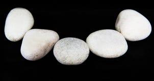 Η άσπρη Zen Stone IV Στοκ Φωτογραφίες