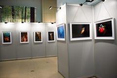 Η έκθεση φωτογραφιών, η αίθουσα έκθεσης Στοκ εικόνα με δικαίωμα ελεύθερης χρήσης