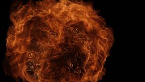 Η έκρηξη σφαιρών πυρκαγιάς, κάμερα υψηλής ταχύτητας, απομόνωσε τη φλόγα πυρκαγιάς στο μαύρο υπόβαθρο διανυσματική απεικόνιση