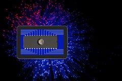 Η έκρηξη της ηλεκτρονικής στον κόσμο Απεικόνιση αποθεμάτων