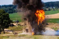 Η έκρηξη των κατοικημένων κτηρίων Στοκ Εικόνες