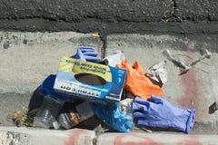 Η έκτακτη ανάγκη πεζοδρομίων παραμένει Στοκ εικόνες με δικαίωμα ελεύθερης χρήσης