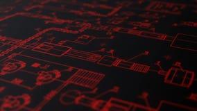 Η έκταση της κάμερας σύμφωνα με το σχέδιο του σχεδίου της σύγχρονης τεχνολογίας διανυσματική απεικόνιση