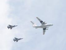 Η έκταση των αεροσκαφών στην παρέλαση νίκης Στοκ Εικόνα