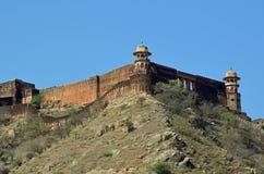 Ηλέκτρινο οχυρό ή παλάτι, nr Jaipur, Ινδία Στοκ Φωτογραφίες