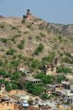 Ηλέκτρινο οχυρό ή παλάτι, nr Jaipur, Ινδία Στοκ Εικόνες