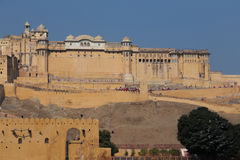 Ηλέκτρινο οχυρό στην κατάσταση του Rajasthan της Ινδίας Στοκ φωτογραφία με δικαίωμα ελεύθερης χρήσης