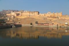Ηλέκτρινο οχυρό στην κατάσταση του Rajasthan της Ινδίας Στοκ εικόνες με δικαίωμα ελεύθερης χρήσης