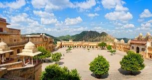 Ηλέκτρινο οχυρό στο Jaipur, Rajasthan, Ινδία στοκ φωτογραφία με δικαίωμα ελεύθερης χρήσης