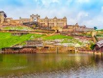Ηλέκτρινο οχυρό, Jaipur, Rajasthan, Ινδία Στοκ εικόνα με δικαίωμα ελεύθερης χρήσης