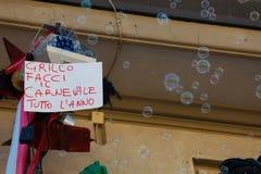 140η έκδοση του καρναβαλιού Viareggio Στοκ Φωτογραφίες