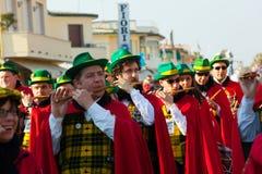 140η έκδοση του καρναβαλιού Viareggio Στοκ Εικόνα