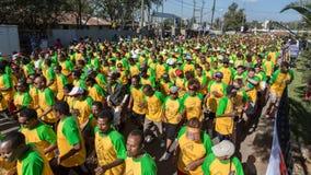 13η έκδοση του μεγάλου αιθιοπικού τρεξίματος Στοκ Φωτογραφία
