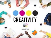 Η έμπνευση φιλοδοξίας δημιουργικότητας εμπνέει την έννοια δεξιοτήτων στοκ εικόνες