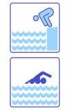η έναρξη κολυμπά ελεύθερη απεικόνιση δικαιώματος