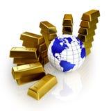 η έννοια ελέγχει το χρυσό &ka Στοκ φωτογραφία με δικαίωμα ελεύθερης χρήσης