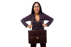 Η έννοια επιχειρηματιών γυναικών απομόνωσε το άσπρο υπόβαθρο Στοκ Εικόνες
