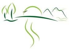 η έννοια πηγαίνει πράσινη διανυσματική απεικόνιση