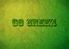 η έννοια πηγαίνει πράσινη Στοκ φωτογραφία με δικαίωμα ελεύθερης χρήσης