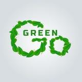η έννοια πηγαίνει πράσινη Στοκ Εικόνες