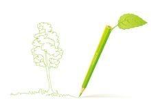 η έννοια πηγαίνει πράσινη Στοκ Φωτογραφία