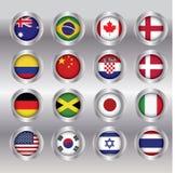 Η έννοια σημαιών, μπορεί να χρησιμοποιηθεί για το σχέδιο Ιστού Στοκ εικόνα με δικαίωμα ελεύθερης χρήσης