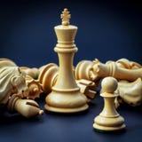 Η έννοια σκακιού σώζει το βασιλιά Στοκ Εικόνα