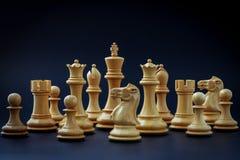 Η έννοια σκακιού σώζει το βασιλιά Στοκ Φωτογραφία