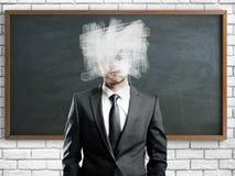 η έννοια συγκεχυμένη χώρισε το λευκό Στοκ Εικόνες