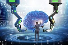 Η έννοια τεχνητής νοημοσύνης με τον επιχειρηματία στοκ εικόνα με δικαίωμα ελεύθερης χρήσης
