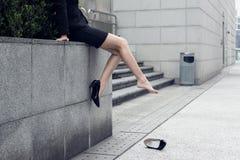 Η έννοια της αναμονής, υπόλοιπο ή προκαλεί Στοκ φωτογραφία με δικαίωμα ελεύθερης χρήσης