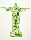 η έννοια της Βραζιλίας πηγαίνει πράσινη απεικόνιση Στοκ φωτογραφία με δικαίωμα ελεύθερης χρήσης
