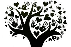Η έννοια της ειρήνης, της ενότητας, της φιλίας και της αγάπης διανυσματική απεικόνιση