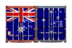 Η έννοια της εξαγωγή-εισαγωγής και εθνική παράδοση των αγαθών διανυσματική απεικόνιση