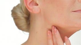 Η έννοια της ελαστικότητας του δέρματος απόθεμα βίντεο