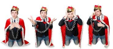 Η έννοια του επιχειρηματία βασιλιάδων με την κορώνα Στοκ Φωτογραφίες