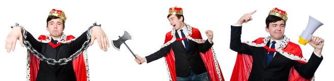 Η έννοια του επιχειρηματία βασιλιάδων με την κορώνα Στοκ εικόνα με δικαίωμα ελεύθερης χρήσης