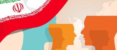 Η έννοια του Ιράν της αυξανόμενης καινοτομίας σκέψης συζητά μελλοντική να μαίνει εγκεφάλου χωρών κάτω από τη διαφορετική άποψη αν διανυσματική απεικόνιση