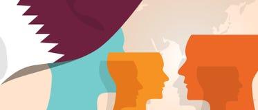 Η έννοια του Κατάρ της αυξανόμενης καινοτομίας σκέψης συζητά μελλοντική να μαίνει εγκεφάλου χωρών κάτω από τη διαφορετική άποψη α διανυσματική απεικόνιση