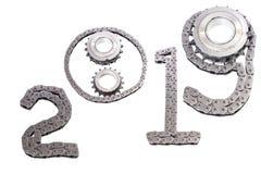 Η έννοια του νέου έτους, δύο χιλιάες δεκαεννέα στοκ εικόνες