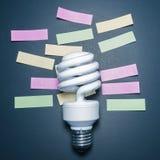 Η έννοια υπενθυμίζει στην ηλεκτρική ενέργεια, λάμπες φωτός - εικόνα αποθεμάτων Στοκ φωτογραφία με δικαίωμα ελεύθερης χρήσης