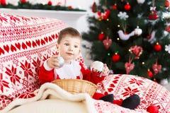 η έννοια Χριστουγέννων απομόνωσε το νέο άσπρο έτος Στοκ Εικόνες