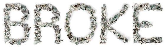 Έσπασε - πτυχωμένο 100$ Bill Στοκ Εικόνες